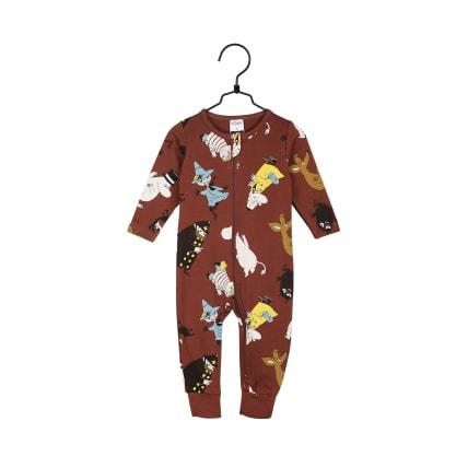 Muumi Ympärillä-pyjama ruskea