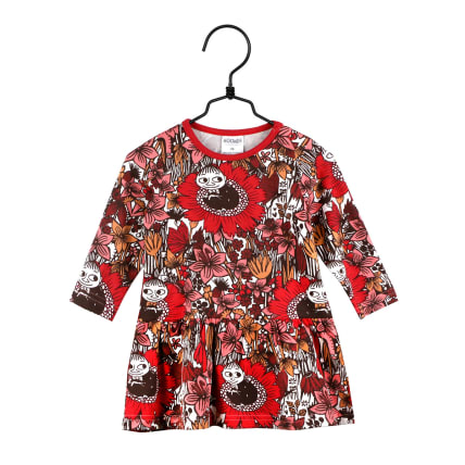 Moomin Dreaming Little My Dress Baby red