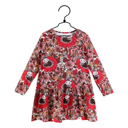 Moomin Dreaming Little My Dress red