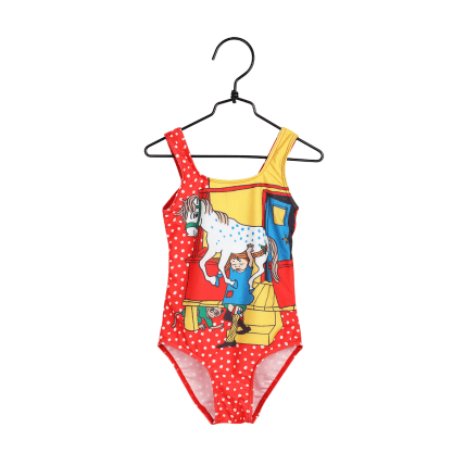 Pippi Longstocking Porch Swimming Suit red