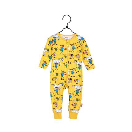 Peppi Pitkätossu Naapurit-pyjama keltainen