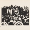 On Bakery Hill, by Noel Counihan, 1954. Linocut printed in black ink on ivory wove paper. Museum of Australian Democracy collection. Photo by Rob Little