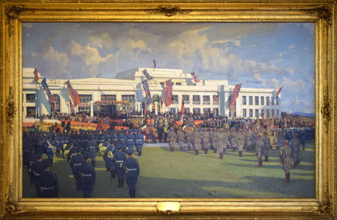 Painting of the opening of Parliament House in 1927