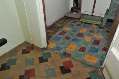 Lino scraps used by the Chifleys at 10 Busby St, Bathurst