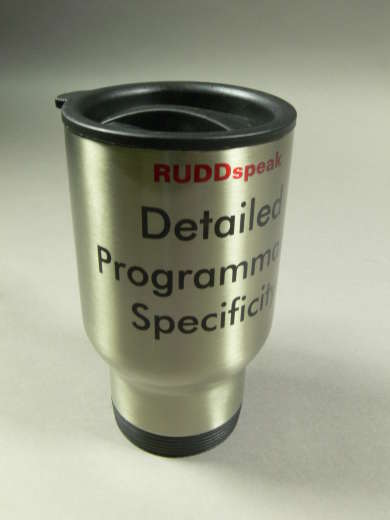 Kevin Rudd travel mug in the Museum of Australian Democracy Collection