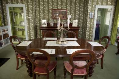 Dining room at Home Hill, Devonport