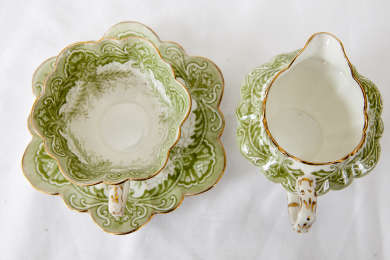 Tea set presented by Joe Lyons to his mother and purchased with his first adult pay check.