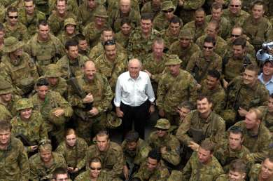 Prime Minister John Howard, Camp Phoenix, East Timor, 18 July 2006