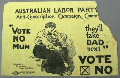 'Vote No Mum' poster