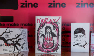 Examples of zines in the Zine Lounge at Old Parliament House