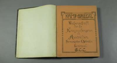An image of Kamp Spiegel, a newspaper produced by German and Austrian inmates of the WW1 prison camp at Holsworthy, NSW, between 1916 and 1918.