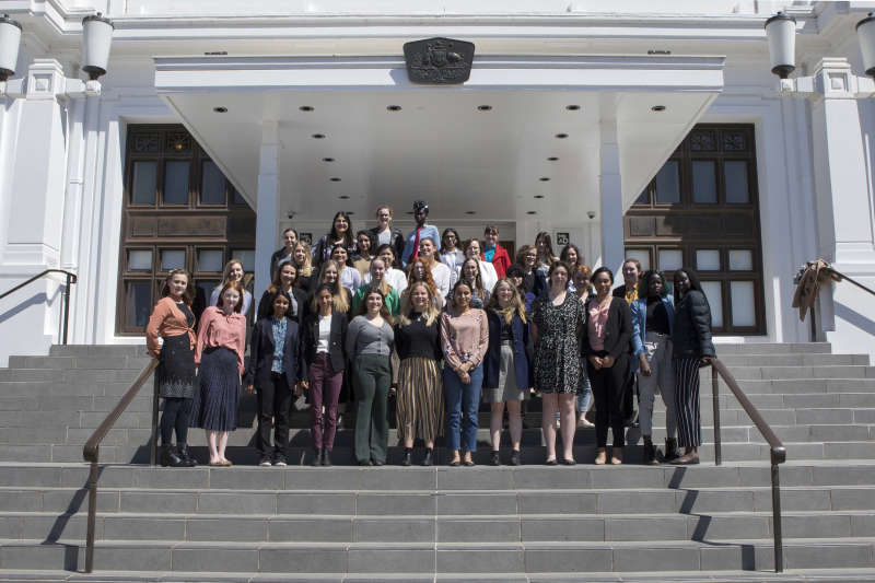 The Jasiri Australia 'Girls Takeover Parliament' 2019 cohort.
