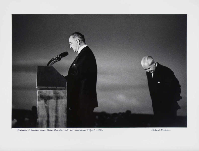 Lyndon Johnson and Harold Holt