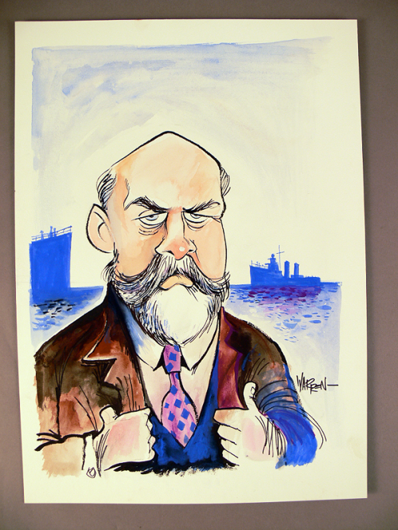 Caricature of Joseph Cook by Warren Brown