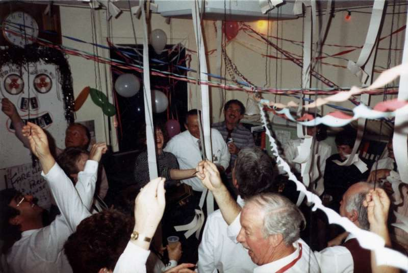 Elaborate themed decorations were the order of the day for the Hansard staff party on 3 June 1988. Photographer – Trevor Fowler, Hansard Reporter, MoAD Collection.