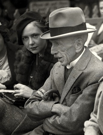 'Billy Hughes with daughter Helen Hughes at Sydney Cricket Ground'. WM Hughes, National Library of Australia, http://nla.gov.au/nla.ms-ms1538-10-365