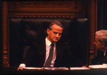 Philip Ruddock MP presiding over the House of Representatives in what is now Old Parliament House in 1988. Mr. Ruddock is one of the last members to have served in both the old and new buildings. Museum of Australian Democracy Collection.
