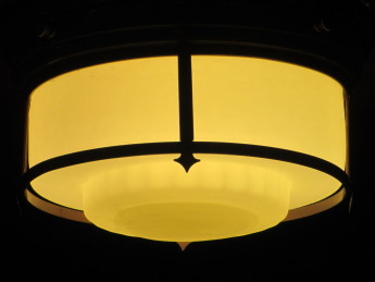 The new lightshade installed in the Members' Dining Room