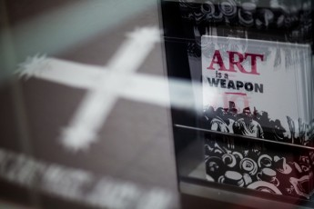 Art is a Weapon: exhibition detail.
