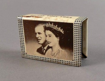 Matchbox holders, designed to wrap around and ornament your box of matches, were just one souvenir from the multitude marking the royal tour in the summer of '54. Museum of Australian Democracy Collection