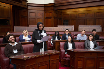 Students from the Australian Youth Leadership Forum at Old Parliament House.