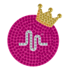 Picture of Musical.ly™ Crown Rhinestone Decals