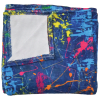 Picture of Paint Splatter Denim Plush Blanket