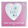 Picture of Heart Letter Board Light Box