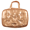Picture of Copper Tufted Metallic Large Cosmetic Bag