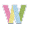 Picture of W Initial Color Block Sticker Patch