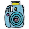 Picture of Camera Embroidered Sticker Patch