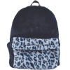 Picture of Blue Leopard Furry Backpack