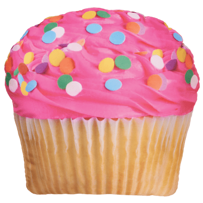 Picture of Pink Icing Cupcake Microbead Pillow