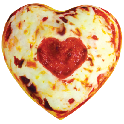 Picture of Heart Pizza Microbead Pillow