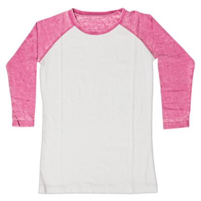 Picture of Burnout White/Pink Baseball Shirt
