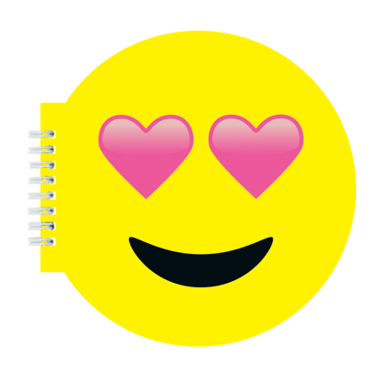 Picture of Heart Eyes Emoji Scented Notebook