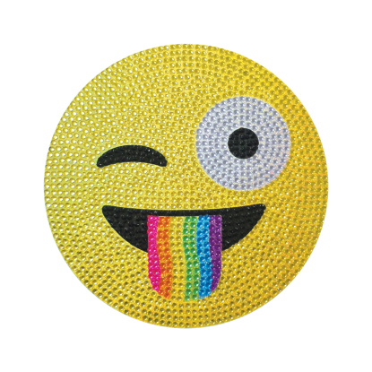 Picture of Crazy Face Emoji Rhinestone Decals