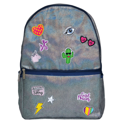 Picture of Metallic Denim Backpack