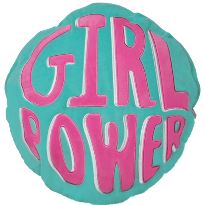 Picture of Girl Power Storage Embroidered Pillow
