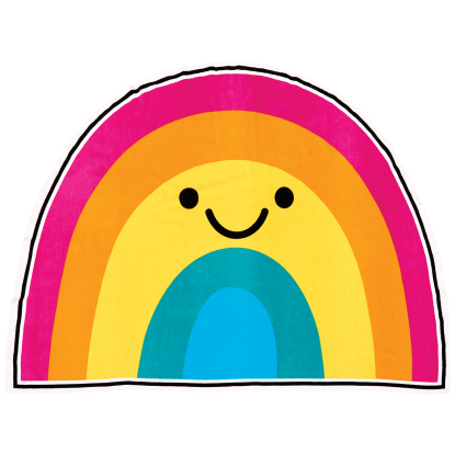 Picture of Rainbow with a Smile Oversized Towel