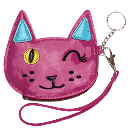 Picture of Winking Cat Purse Key Chain