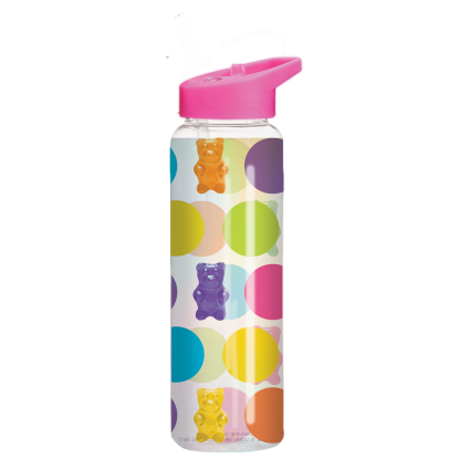 Picture of Polka Dot Gummy Bears Holographic Water Bottle