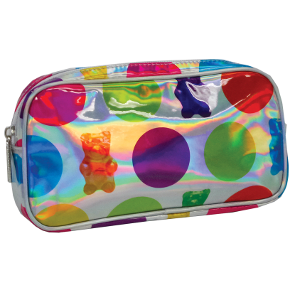 Picture of Polka Dot Gummy Bears Holographic Small Cosmetic Bag