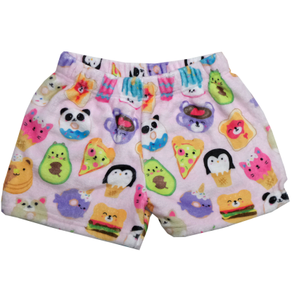 Picture of Foodie Animals Plush Shorts
