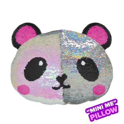 Picture of Mini Panda Reversible Sequin Pillow