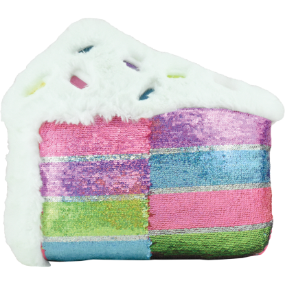 Picture of Slice of Cake Furry Reversible Sequin Pillow