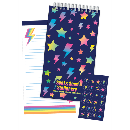 Picture of Stars and Lightning Seal & Send Stationery