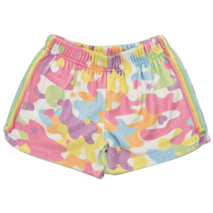 Picture of Rainbow Camo Plush Shorts