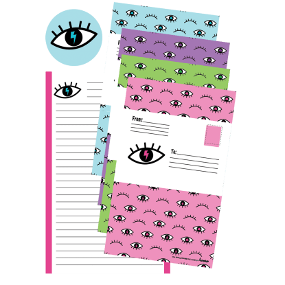 Picture of Winking Eye Foldover Cards