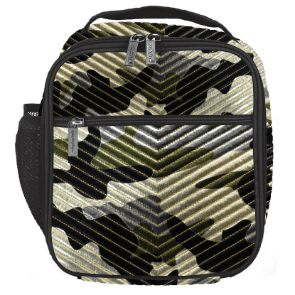Picture of Metallic Camo Chevron Lunch Tote
